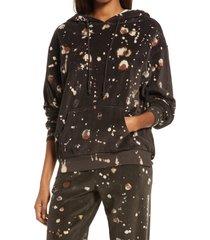 women's treasure & bond velour treatment hoodie, size x-small - brown