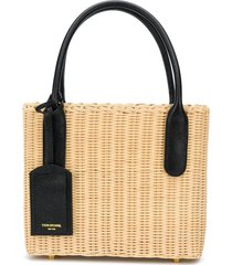 thom browne wicker basket bag - neutrals