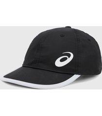 gorra negro-blanco asics