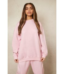 oversized gerecyclede sweater, pale pink