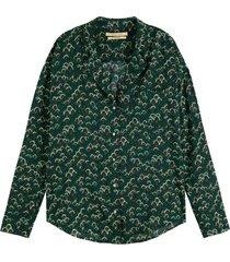 blouse oversized groen