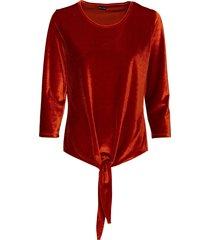 maglia in velluto con nodo (marrone) - bodyflirt