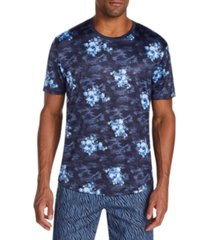 tallia men's slim-fit stretch floral camo t-shirt