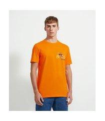 camiseta manga curta estampa corrida do naruto | naruto | laranja | gg