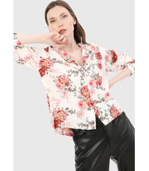 camisa blanco-multicolor paris district