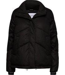 ls monogram jacket fodrad jacka svart calvin klein