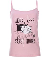 top sleep more color rosado, talla l