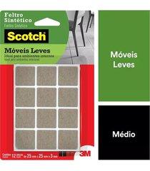 feltro adesivo 3m scotch quadrado p com 12 marrom 0,6x12,2x19,6cm