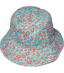 lele x solid & striped ditsy floral bucket hat
