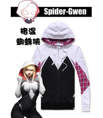 spider gwen cosplay costume jacket outfit clothing coat hoodies sweatshirt s-5xl
