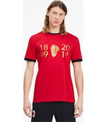 ac milan 120-jarig bestaan t-shirt voor heren, rood/goud, maat s   puma