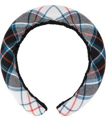 shrimps melette checkered wool headband - blue