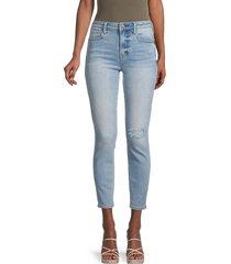 true religion women's halle destroy super skinny ankle jeans - blue - size 32 (10-12)