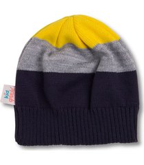 gorro kidsplash! azul marinho/amarelo/cinza