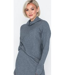 vila violiv knit high neck l/s top/l polotröjor