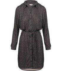 blouse jurk grijs