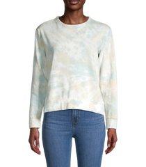 for the republic women's tie-dyed cotton-blend sweater - seaside tie dye - size m