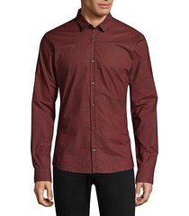 numeric woven button-down shirt