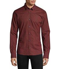 numeric woven button-down shirt