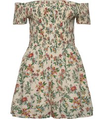 tjw summer printed playsuit jumpsuit creme tommy jeans