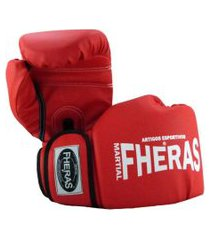 luva boxe muay thai fheras new trade pró vermelho .