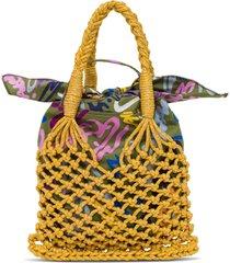lurex knitted handbag