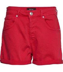 shorts shorts denim shorts röd replay
