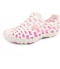 sandalias de mujer sandalias transpirables ahuecadas cómodas zapatos con