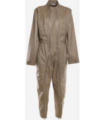stella mccartney wool jumpsuit with all-over zip