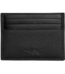 men's coach leather card case - black