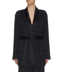 'nash' stripe silk pyjama blazer