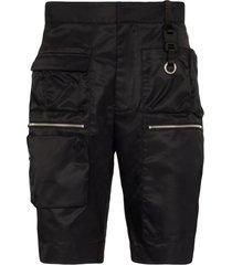 1017 alyx 9sm multi-pocket knee-length shorts - black