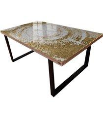 white sumphony - stół do jadalni ze strukturą