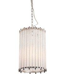 lustre decorativo de cristal hamm prata