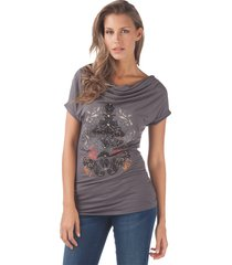 kill j800 r181 997 - one shoulder - met jeans - t-shirts - grijs