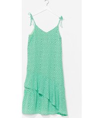 womens spot it relaxed midi dress - green