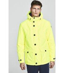 neon yellow parka
