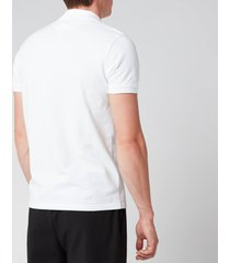 kenzo men's tiger crest polo shirt - white - s