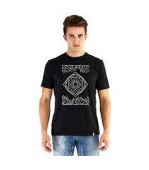 camiseta ouroboros manga curta geometric