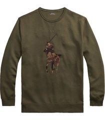 sweater polo ralph lauren olijfgroen big & tall