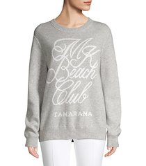 beach club knit sweatshirt