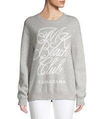 beach club knit sweatshirt