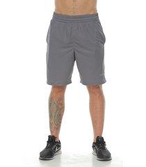 pantaloneta deportiva con licra interior, color gris azul para hombre