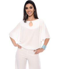 blusa bata elizabeth b bonnie off white