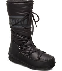 mb high nylon wp höga stövlar svart moon boot