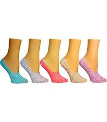 steve madden women's 5-pk. speckle yarn foot liner socks