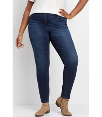 maurices plus size jeans womens kancan™ dark wash stretch skinny jeans blue