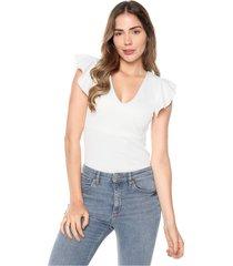 blusa manga bolero blanca mítica