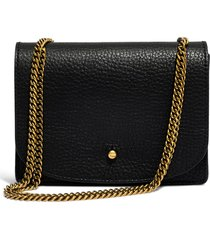 women's madewell leather crossbody wallet -