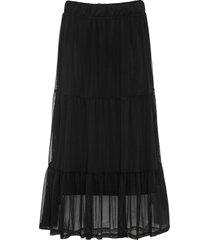 kjol av nätmaterial med volang